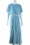 Pastel Blue Crescent Moon Dress - Embers / Cinders Vintage