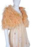 Peach Marabou + Ostrich Feather Capelet