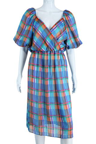 Rainbow Pastels Plaid Dress