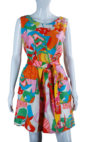 Pop Art Still Life Print Romper