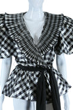 Metallic Silver + Black Extreme Puff Sleeve Jacket