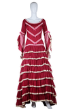 Ruffles and Lace Flamenco Gown - Embers / Cinders Vintage
