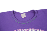 """Sex is Like Credit"" T-Shirt - Purple and Pink - Embers / Cinders Vintage"