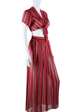 Sheer Gauzy Two Piece Striped Set - Embers / Cinders Vintage