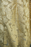 Sheer Gold Lamé Paisley Skirt with Embellished Waist