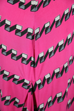 Shocking Pink 40s Traina-Norell Gown - Embers / Cinders Vintage