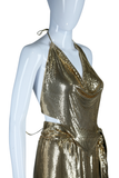 Whiting + Davis Chainmail Set with Slinky Bandana top, Mini Skirt + Belt