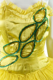Chartreuse Sequin Dance Costume - Embers / Cinders Vintage