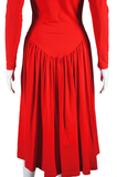 Betsey Johnson Red Snap Front Dress - Embers / Cinders Vintage