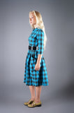 Buffalo Check Dress with Peter Pan Collar - Embers / Cinders Vintage