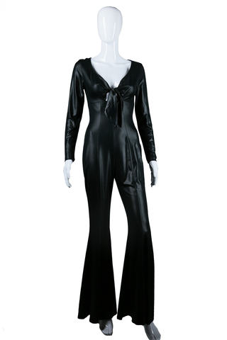 Sexy Liquid Stretch Bell Bottom Jumpsuit