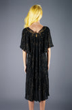 Gauze Black and Gold Lurex Caftan - Embers / Cinders Vintage