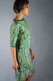Sequin Beaded Paisley Shift Dress - Embers / Cinders Vintage