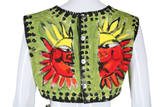 Hand Painted Sun Two Piece - Embers / Cinders Vintage