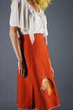 Horse Wrap Skirt in Orange - Embers / Cinders Vintage