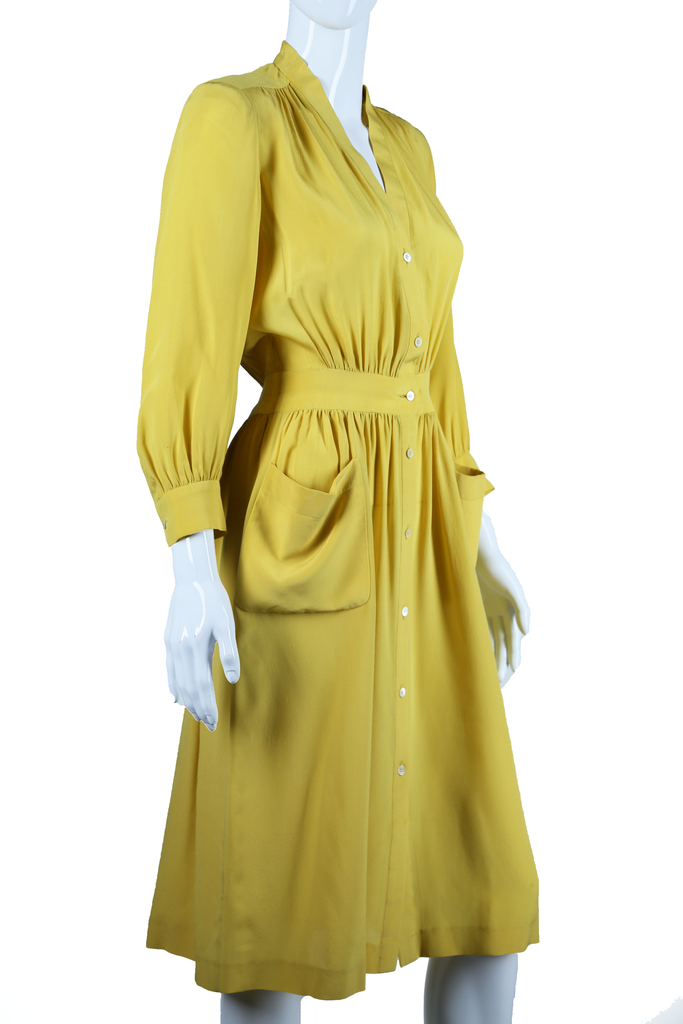 Charteuse Jean Patou Silk Dress - Embers / Cinders Vintage