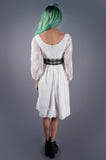 Joanna Nelson Lace Dress with Taffeta Sash - Embers / Cinders Vintage