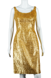 Gold Tinsel Party Dress - Embers / Cinders Vintage