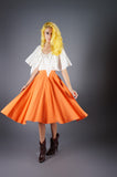 Orange Full Circle Skirt - Embers / Cinders Vintage