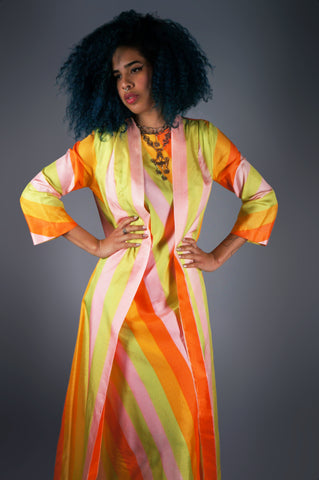 Silk Lounge Dress With Attached Robe
