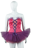 Purple and Pink Lace Up Front Dance Costume - Embers / Cinders Vintage
