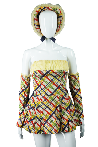 Plaid and Yellow Dance Costume