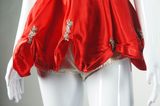 Red and Silver Sequin Dance Costume - Embers / Cinders Vintage