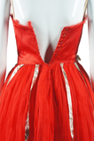 Red Tulle and Silver Dance Costume