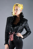 Sequin Feather Statement Jacket