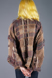 Assymetrical Textured Wool Jacket by Gil Aimbez - Embers / Cinders Vintage