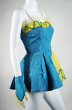 Turquoise and Chartreuse Dance Costume - Embers / Cinders Vintage