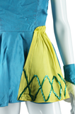 Turquoise and Chartreuse Dance Costume