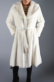 Lilli Ann White Faux Fur Long Coat