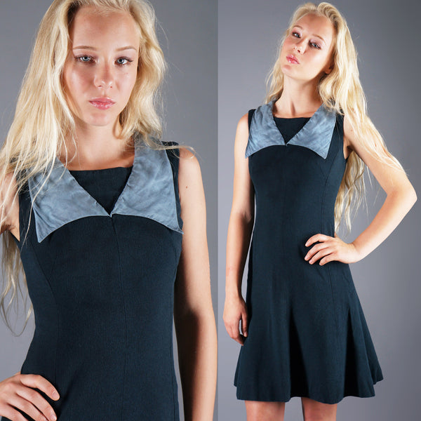 VINTAGE Jax Mod A-line Dress Mini Dress with Organza Collar 60's Rudi Gernreich Design -  - 1