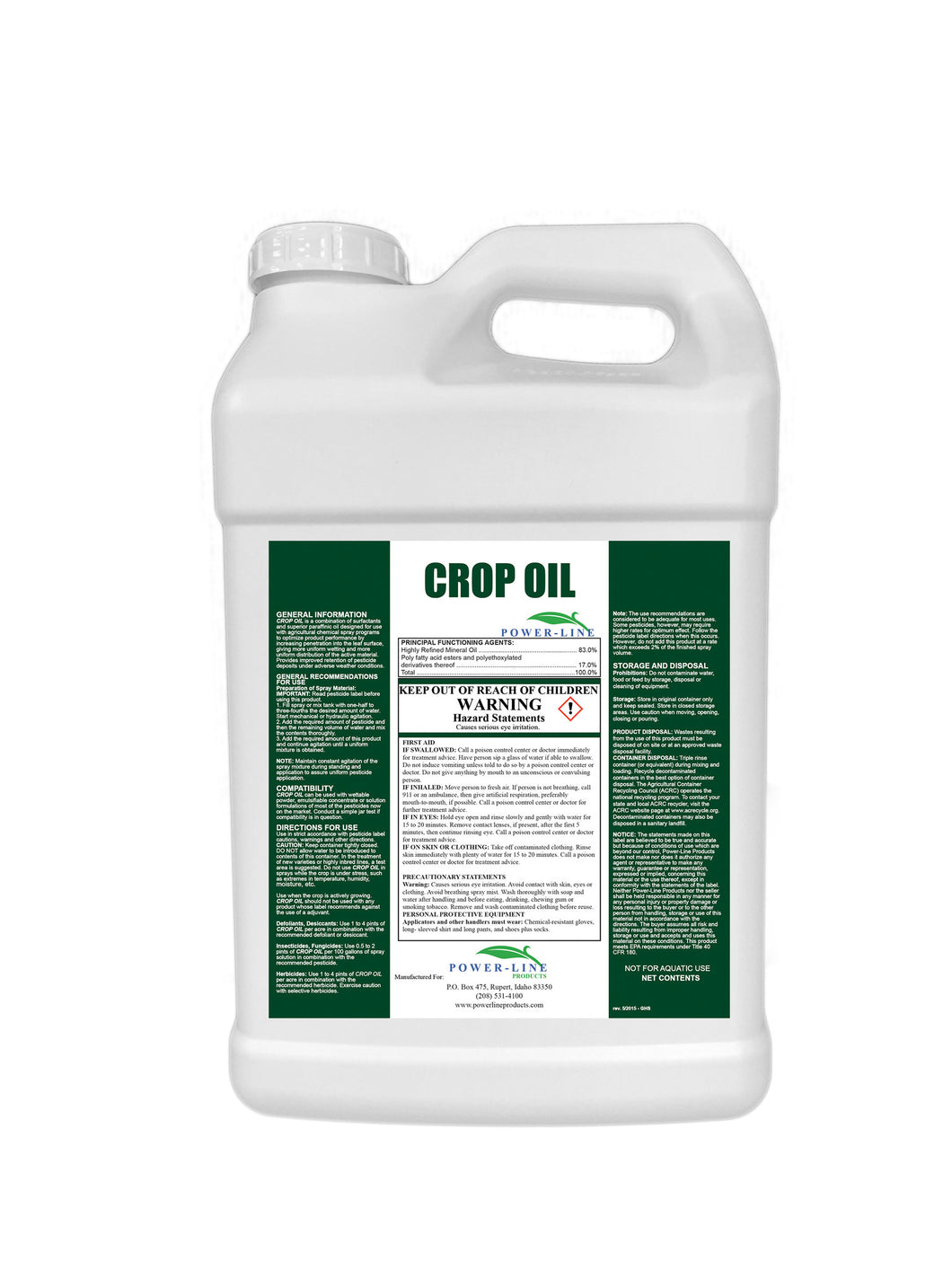 Crop Oil 2.5 Gallon