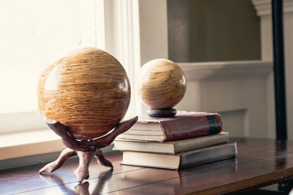 Solid Glulam Hardwood Decorative Sphere - Woodland Inspirations - 2