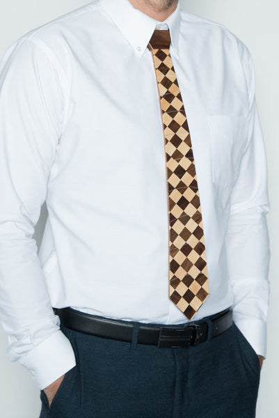 """V-Neck"" Hardwood Necktie - Woodland Inspirations - 3"