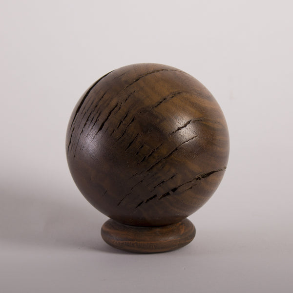 Solid Claro Walnut Hardwood Decorative Sphere