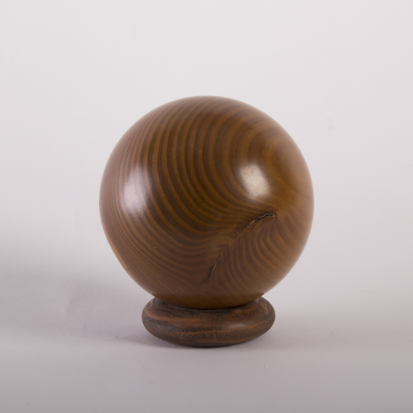 Solid Elm Hardwood Decorative Sphere