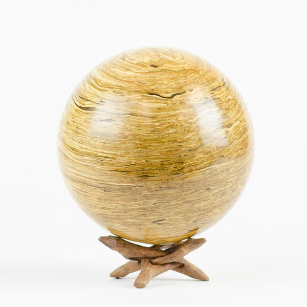 Solid Glulam Hardwood Decorative Sphere - Woodland Inspirations - 1