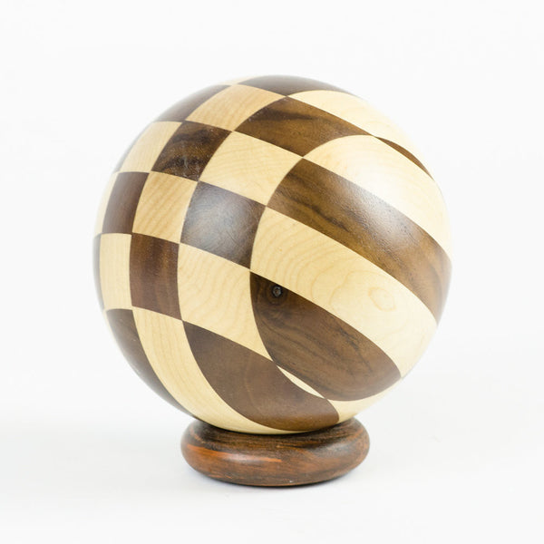 Mapel & Walnut Hardwood Checkerboard Sphere - Woodland Inspirations - 2
