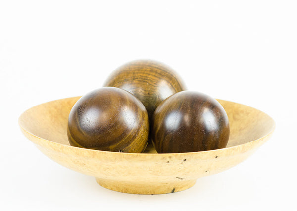 Solid Claro Walnut Hardwood Decorative Sphere - Woodland Inspirations - 1