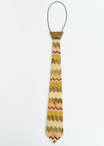 """Chevron"" Hardwood Necktie - Woodland Inspirations - 1"