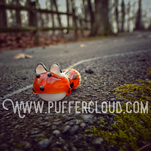 Fox Tail Pipe by Mathematix Glass - Puffer Cloud The Online Smoke Shop