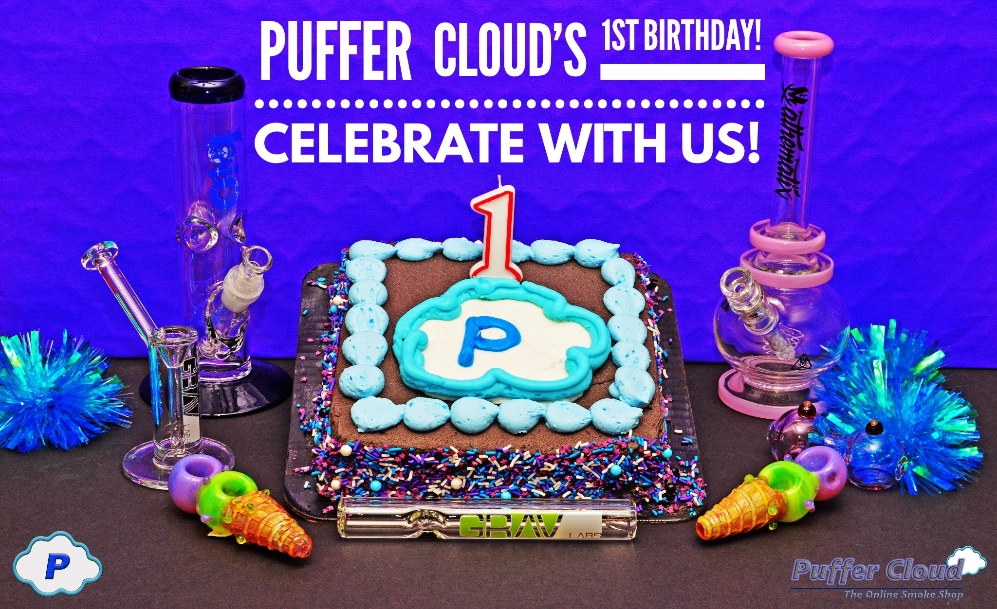 Puffer Cloud's 1st Birthday! Celebrate with us! 20% off!