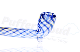 "10"" Blue Spiral Gandalf Hand Pipe - Puffer Cloud 