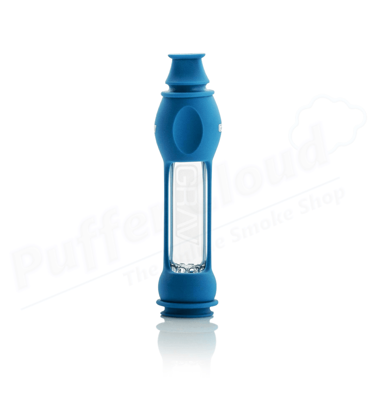 "4"" GRAV 16mm Octo-Taster With Silicone SkinHand PipeGRAVBlue - Puffer Cloud 