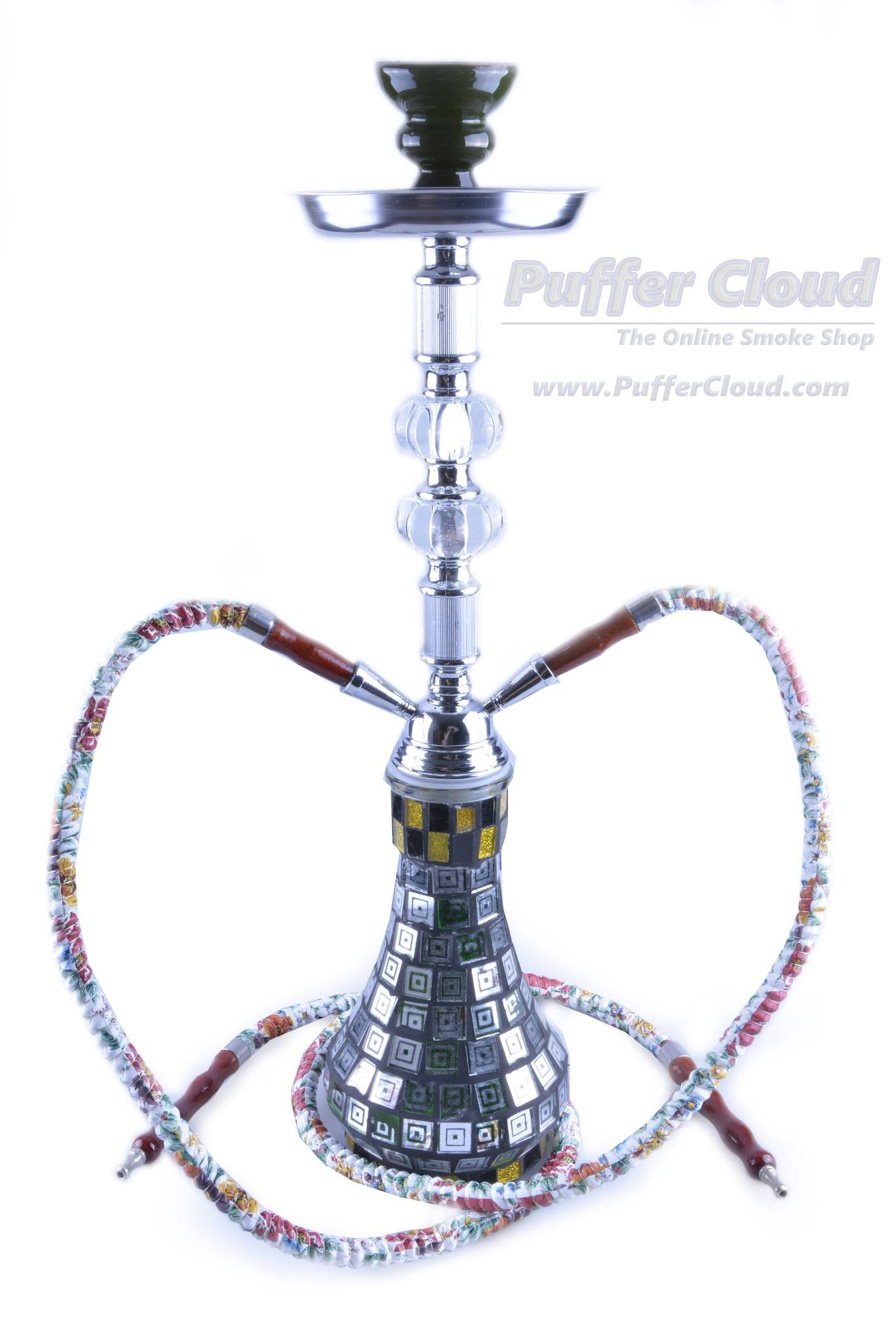 "20"" Two Hose Aztec Hookah - Puffer Cloud 