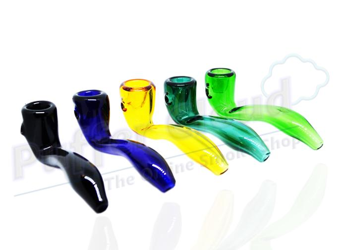 "4"" Colored Sherlock Hand Pipe - Puffer Cloud 
