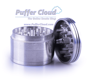 4-Piece Metal Grinder w/ Diamond-Cut Teeth - 32mm - Puffer Cloud | The World's Best Online Smoke and Head Shop